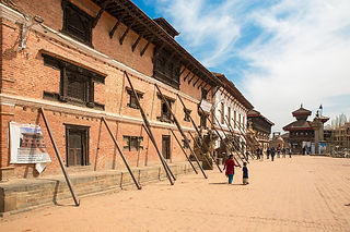 Durbar Square after the earthquake, Bhaktapur, Nepal