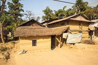 Tharu mud houses in Sauraha Nepal