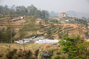 Fields in Nagarkot, Nepal