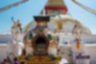 Boudhanath Temple detail, Boudha Stupa, Kathmandu, Nepal