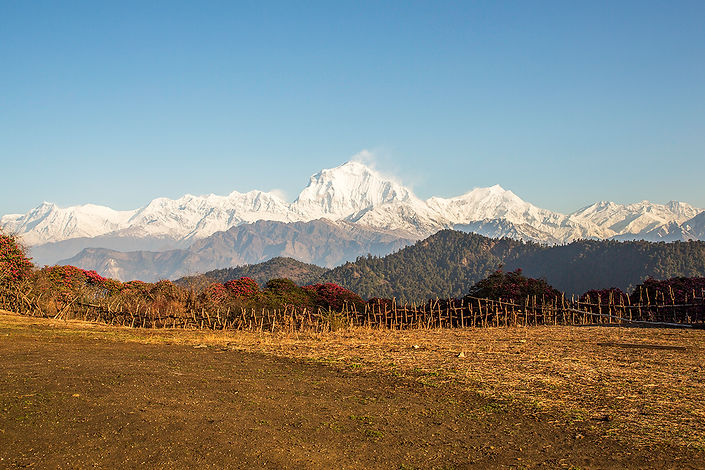 View from Danda Kharka Community Lodge, Annapurna-Dhaulagiri Community Trail, Nepal