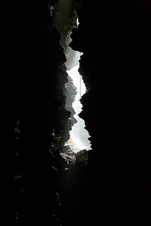 Natural light in the Cave, at Gupteshwor Mahadev Cave, Pokhara, Nepal