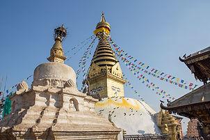 Detail of Swayambhunath Temple, Kathmandu, Nepal