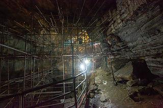 Scafflding inside the Cave, at Gupteshwor Mahadev Cave, Pokhara, Nepal