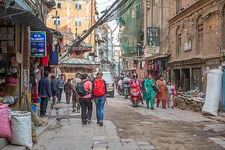 People walking in the streets of Kathmandu, Nepal