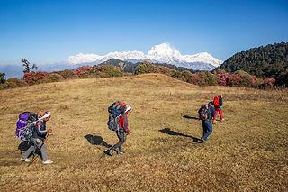 Trekking from Danda Kharka to Swanta, Annapurna-Dhaulagiri Community Trail, Nepal