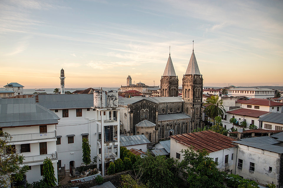 St Joseph Cathedral Stone Town Zanzibar | Rooftop View from Tausi Palace Hotel | Shots and Tales
