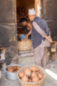 Men at Pottery Square, Bhaktapur, Nepal