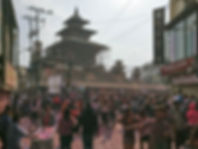 Vendor of Colours during Holi – festival of colours in Kathmandu Nepal
