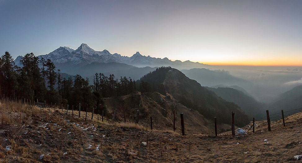 Sunrise from Mohare Danda, Annapurna-Dhaulagiri Community Trail, Nepal