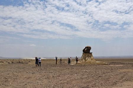 Skull monument of Paranthropus boisei and Homo habilis | Tanzania | Shots and Tales