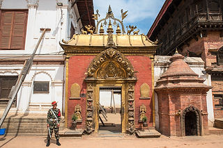 Soldier at Durbar Square, Bhaktapur, Nepal