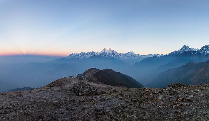 Sunrise over Khopra Danda, Annapurna-Dhaulagiri Community Trail, Nepal