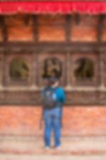 Woman buying entrance tickes at Bhaktapur, Nepal