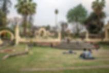 People relaxing at the Garden of Dreams, Kathmandu, Nepal