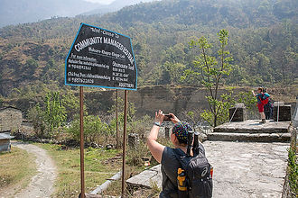 Start of Trail, Ghumaune Tal, Annapurna - Dhaulagiri Community Eco Trail, Nepal