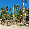 Traditional boats on a sandy beach | Nungwi Zanzibar | Shots and Tales