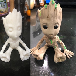 Groot Before and After Painting