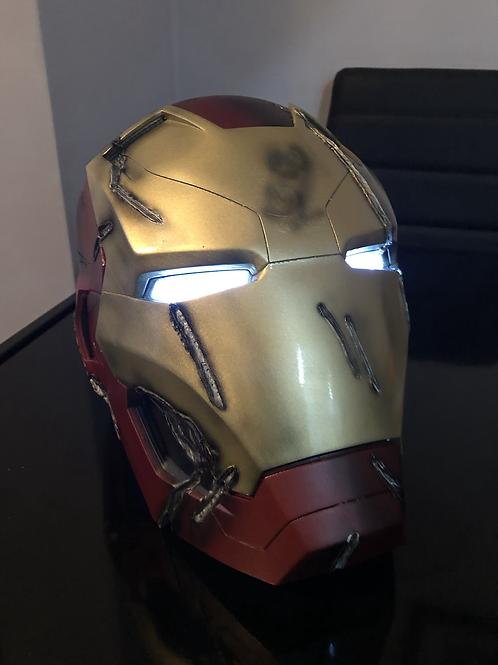 3D printed Damaged Ironman helmet