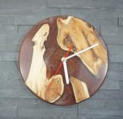 Resin River Clock Red
