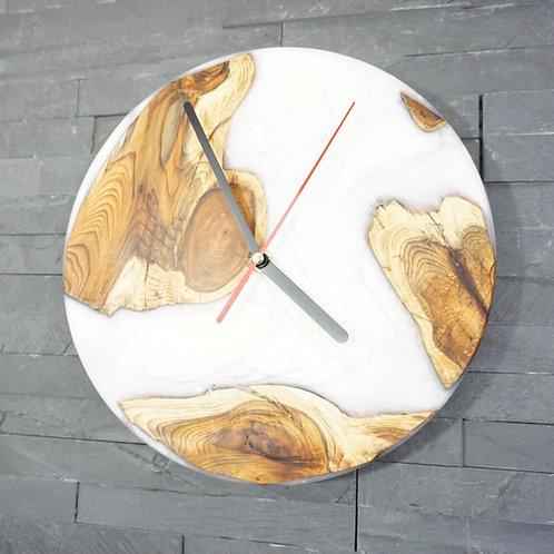 Resin river clock