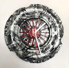 Engines Pattern Hydrodipped Clock_#art #