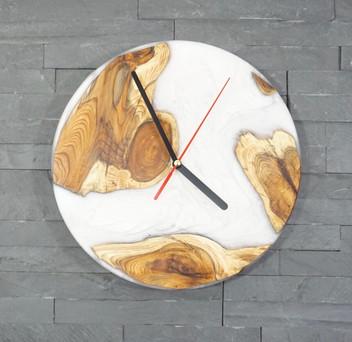 Resin River Clock white