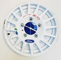 Genuine WRC wheel clock complete with ba