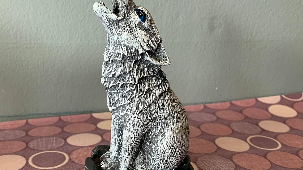 Wolf Incense Cone Holder