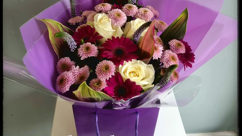 Amethyst Boxed Bouquet