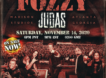 FOZZY ANNOUNCES CAPTURING JUDAS LIVESTREAM November 14