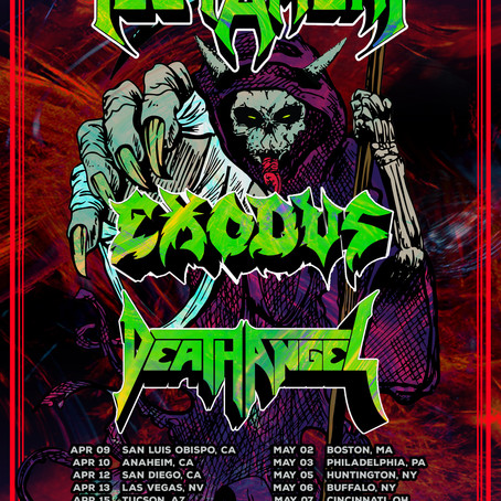 Bay Strikes Back Tour Featuring Testament, Exodus and Death Angel Postponed Until 2022