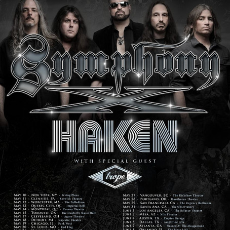 SYMPHONY X and HAKEN to tour together
