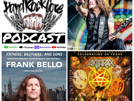 THE HARDROCKCORE PODCAST Episode 55 with FRANK BELLO OF ANTHRAX