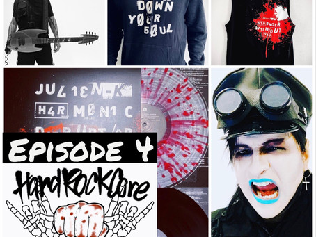 Now On YouTube - THE HARDROCKCORE PODCAST Episode 4 featuring AMIR DERAKH of JULIEN-K, ORGY