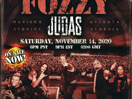 FOZZY ANNOUNCES CAPTURING JUDAS LIVESTREAM