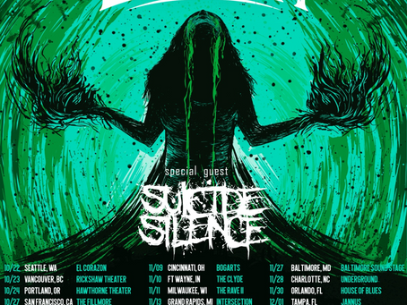JINJER announce US Tour with SUICIDE SILENCE