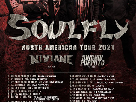 SOULFLY anounce tour