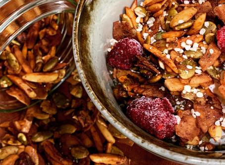 Grain-Free Granola, Low-Carb,  Sugar- and Gluten-Free!