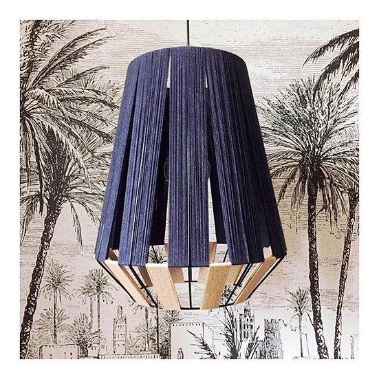 AYMEcreation-luminaire-Suspension Frida Bleu nuit vue complète