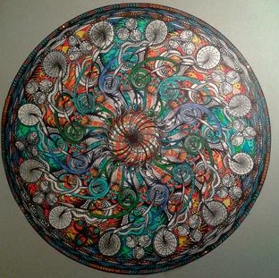 """D2 - Mandala """"Caraïbes"""""""
