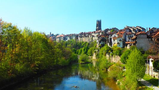 La Sarine, rivière qui traverse Fribourg