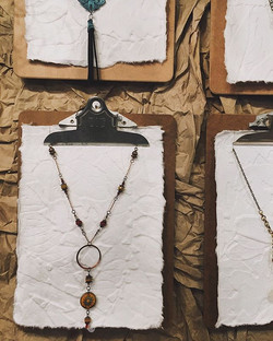 Pretty new necklaces up on display! What