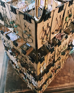 annnnd the earring rack has been re-stoc