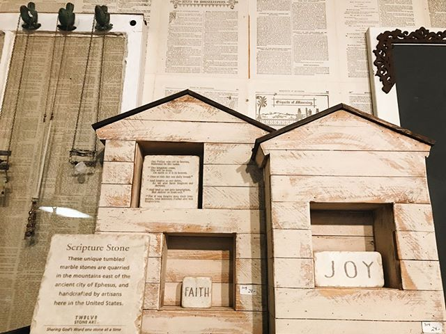 Scripture stones and pretty new wall dec