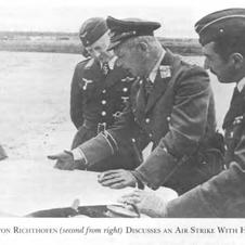 General von Richthofen second right
