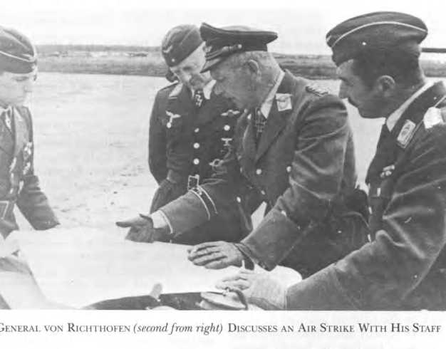 General von Richthofen second right