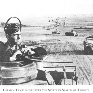 German Tank commander on the approach to Stalingrad