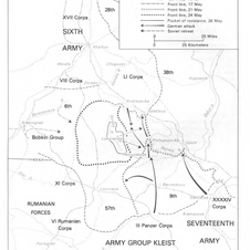 The German counter-offensive in Kharkov