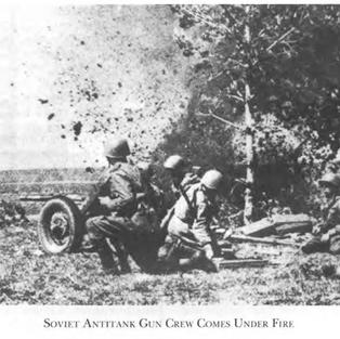 Soviet gun crew under fire close to the Don Bend